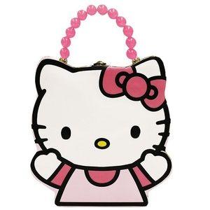 Hello Kitty Shape Tin Box Carry All